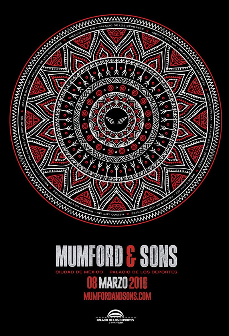 Mumford and Sons - Poster Mexico City Show