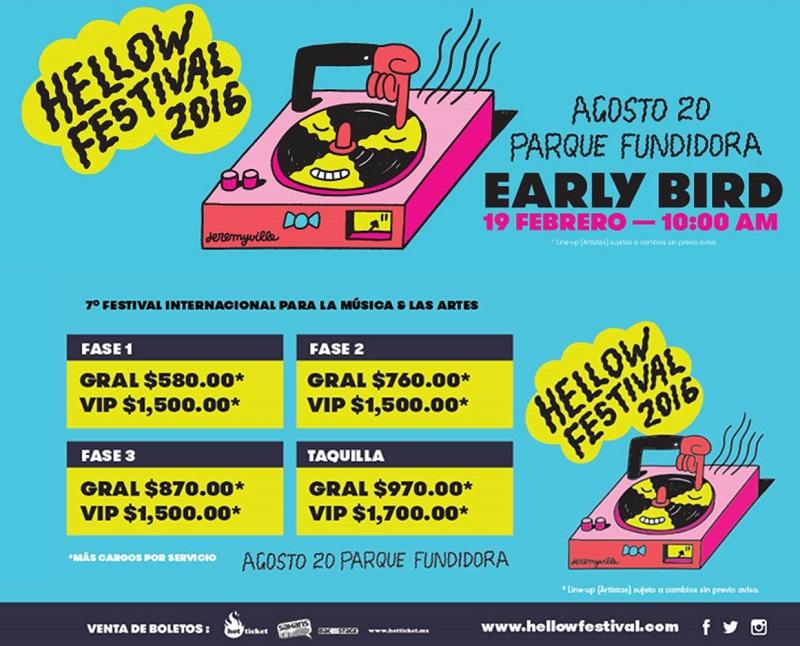 Hellow Festival 2016 precios