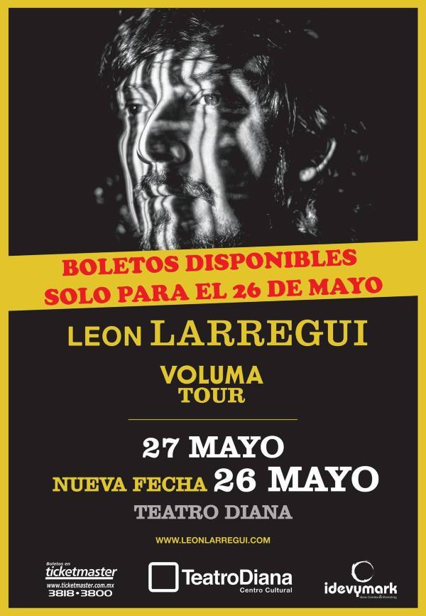 Leon Larregui Teatro Diana 2016 cartel