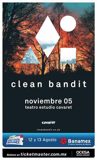 Clean Bandit Teatro Estudio Cavaret cartel