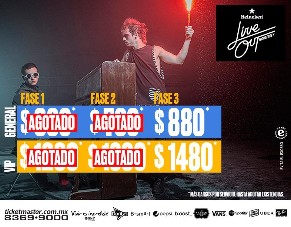 Live Out 2016 precios