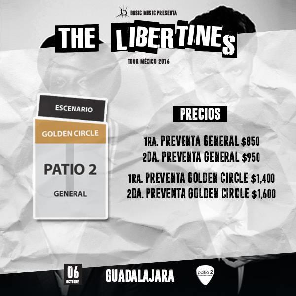 The Libertines  precios