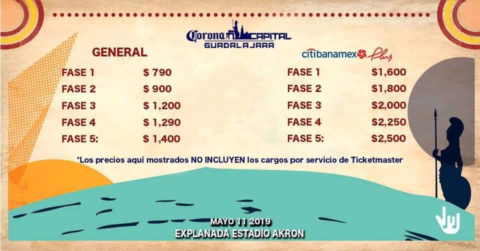 corona capital guadalajara 2020 precios